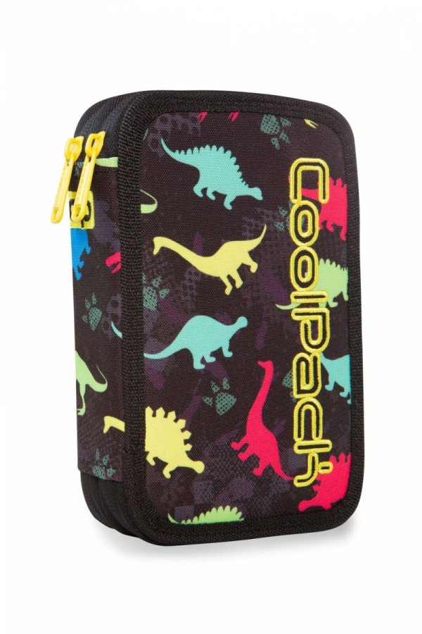 Piórnik CoolPack dwukomorowy z wyposażeniem JUMPER 2 dinozaury, DINOSAURS (96140)