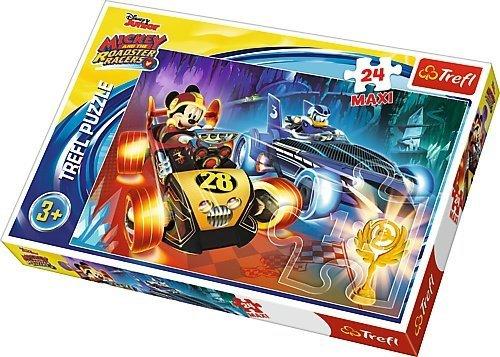 TREFL Puzzle MAXI 24 el. Myszka Miki Mickey Raźni Rajdowcy (14266)