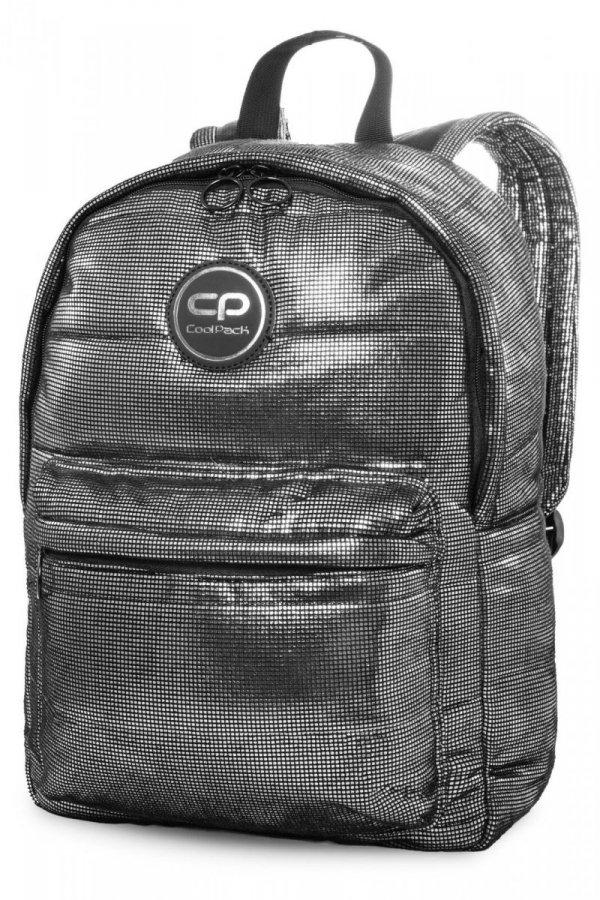 Plecak CoolPack miejski RUBY srebrny połysk SILVER GLAM (22813)