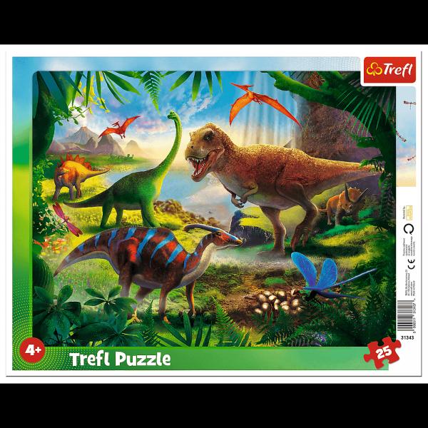 TREFL Puzzle Ramkowe 25 el. DINOZAURY (31343)