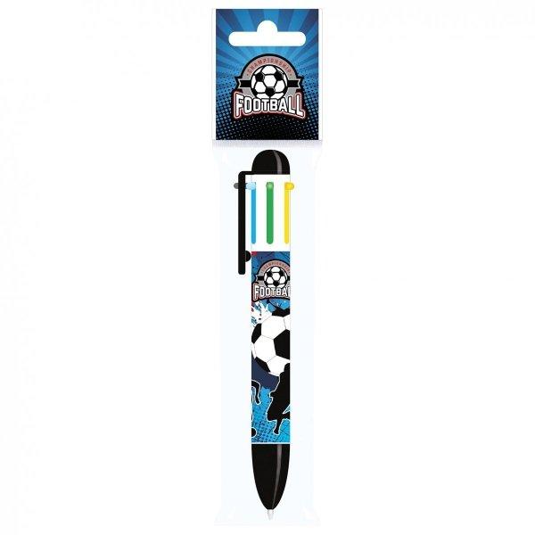 Długopis 6 kolorów FOOTBALL Piłka nożna (D6KPI12)