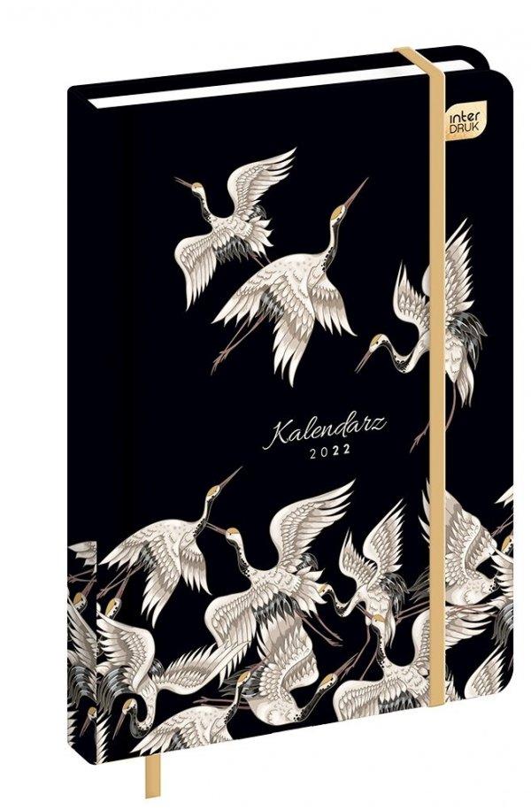 Kalendarz książkowy A5 METALLIC HERON Czaple Ptaki 2022 (00256)
