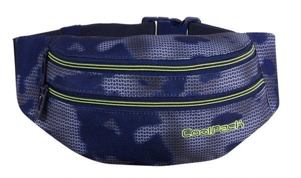 SASZETKA NERKA CoolPack na pas torba MADISON czarna z zielonymi dodatkami, MISTY GREEN (86056CP)
