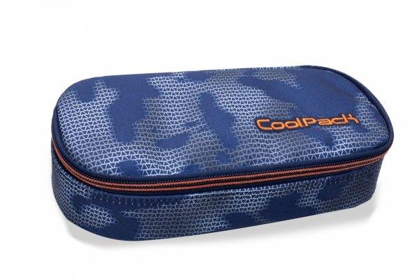 Piórnik CoolPack CAMPUS niebieski z pomarańczowymi dodatkami, MISTY TANGERINE (B62002)