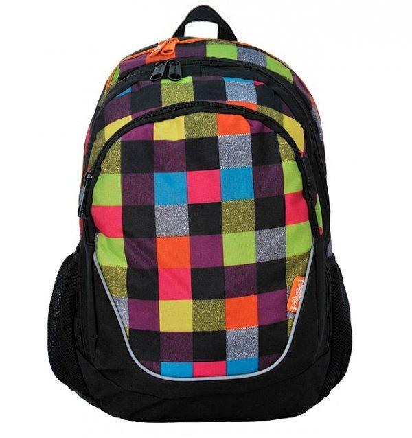 Plecak szkolny młodzieżowy Kratka (15367B)