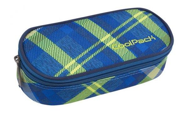 Piórnik CoolPack CAMPUS niebieski w zieloną kratę, SPRINGFIELDS (82621CP)