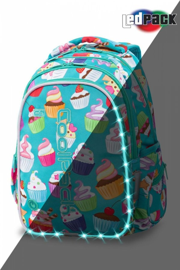 Plecak CoolPack LED JOY M muffinki CUPCAKES (94542)