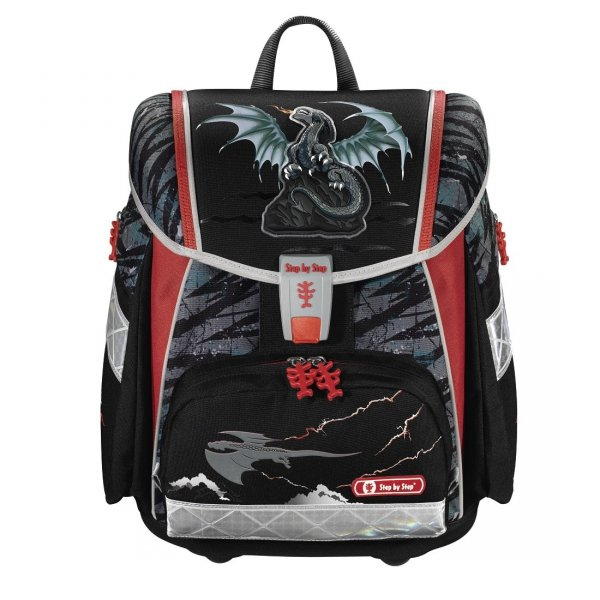 Zestaw 4 el. Tornister Step by Step TOUCH 2 Fire Dragon, Hama (138938)