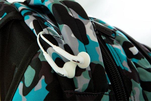 Plecak CoolPack DART niebieskie moro w znaczki CAMO BLUE BADGES (24152CP)