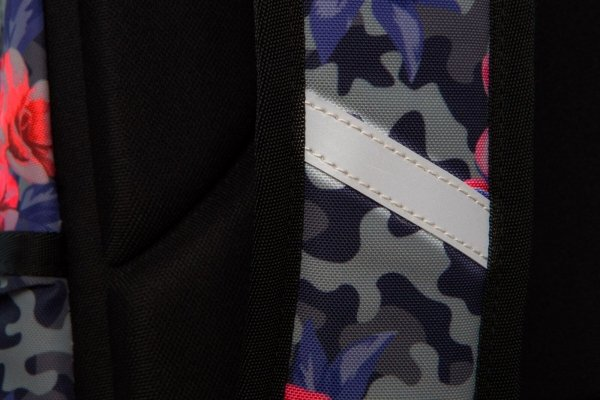 Plecak CoolPack LED JOY L kwiaty w moro CAMO ROSES (96652)