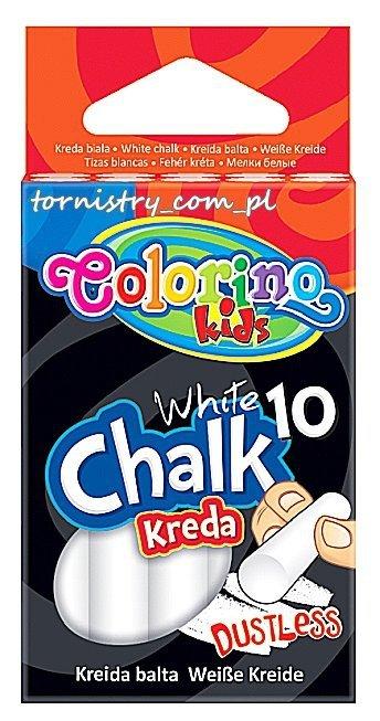 Kreda biała bezpyłowa 10 sztuk COLORINO (33138)