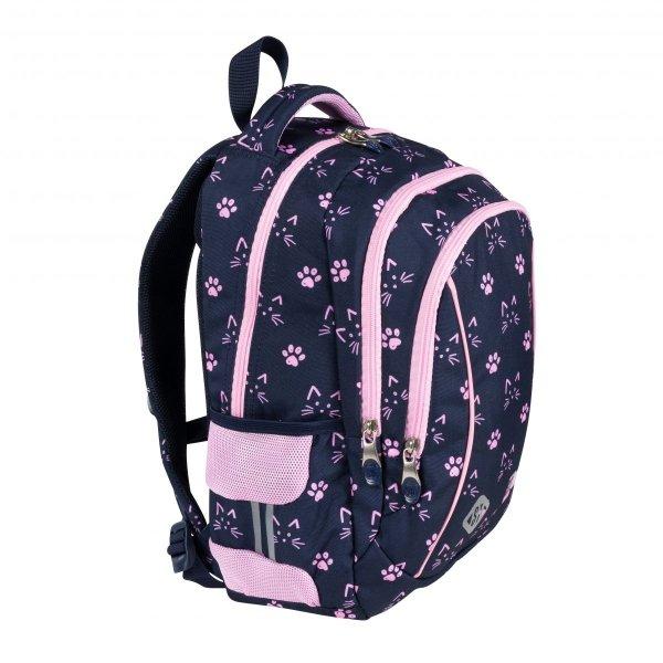 ZESTAW 3 el. Plecak wczesnoszkolny ST.RIGHT w kocie łapki, CATS & PAWS BP26 (27361SET3CZ)