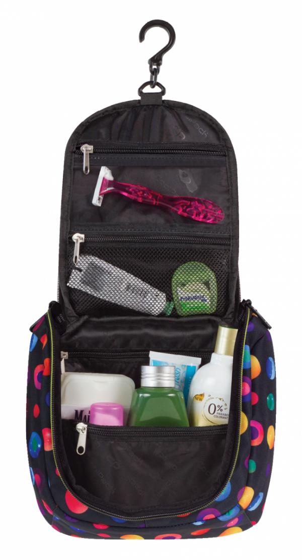 Kosmetyczka COOLPACK TRAVEL w kolorowe kropki, CONFETTI 903 (69205)