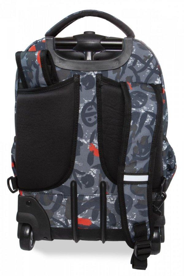 Plecak CoolPack SWIFT na kółkach w szare wzory, RED INDIAN (B04005)