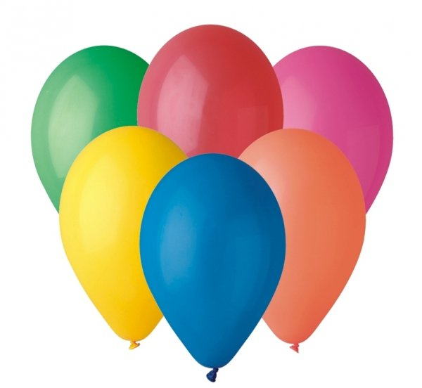 Balony różnokolorowe 25 cm G90 10 sztuk, Gemar (G90/80)
