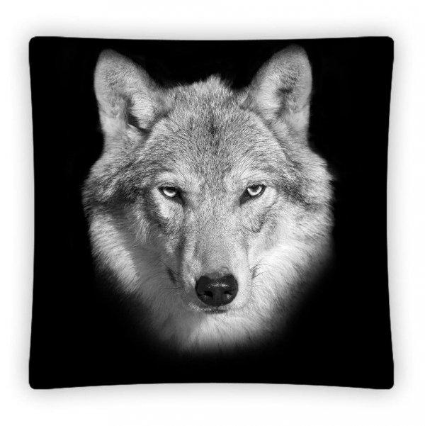 Poszewka na poduszkę 3D WILK 40 x 40 cm (PS0008)