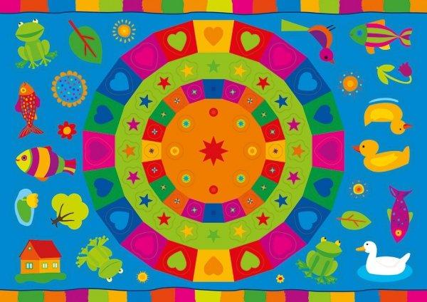 Kolorowanka z naklejkami OPOWIEŚCI O ZWIERZĘTACH KACZKA KWACZKA 3+ (43324)