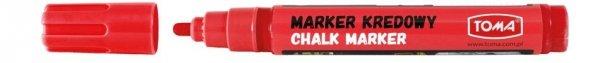MARKER kredowy zmywalny TOMA, czerwony (TO-292)