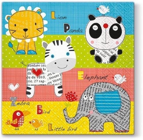 Serwetki dekoracyjne CHILDREN'S WORLD Świat Dziecka 33x33 cm (SDL093900)