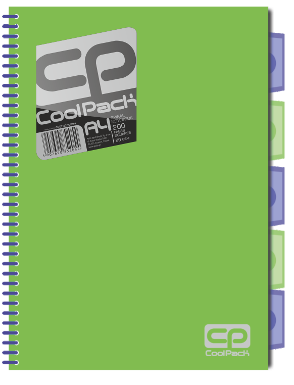 Kołobrulion kołozeszyt A4 200 stron ZIELONY NEON CoolPack (52054)
