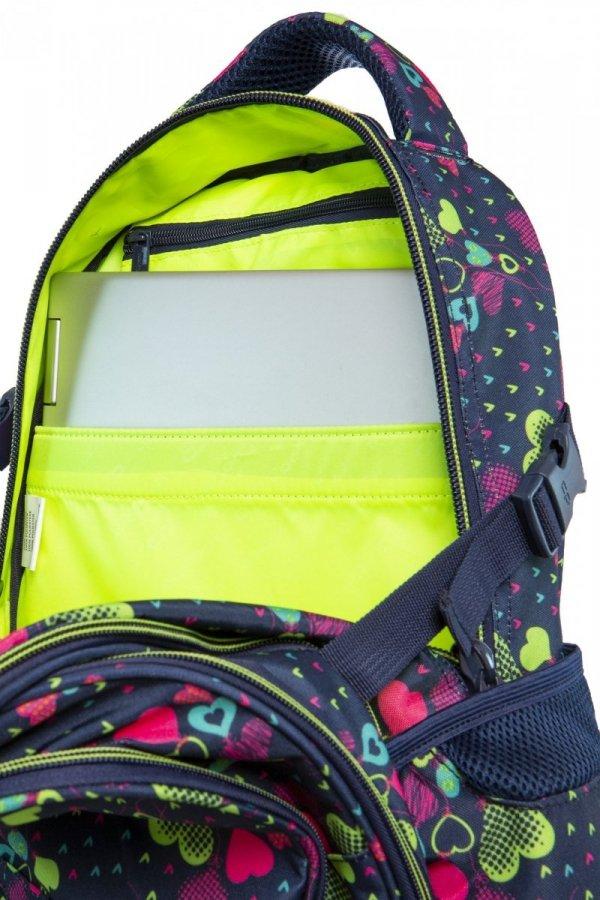 Plecak CoolPack FACTOR w zielone serca, LIME HEARTS (B02010)