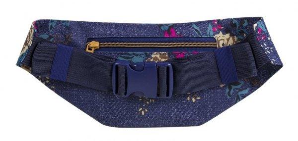 SASZETKA NERKA CoolPack na pas torba MADISON kwiaty na dżinsowym tle, BLUE DENIM FLOWERS (91961CP)