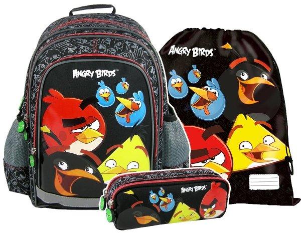 ZESTAW Plecak szkolny ANGRY BIRDS 3 cz. + GRATIS (PL15AB10SET/5)