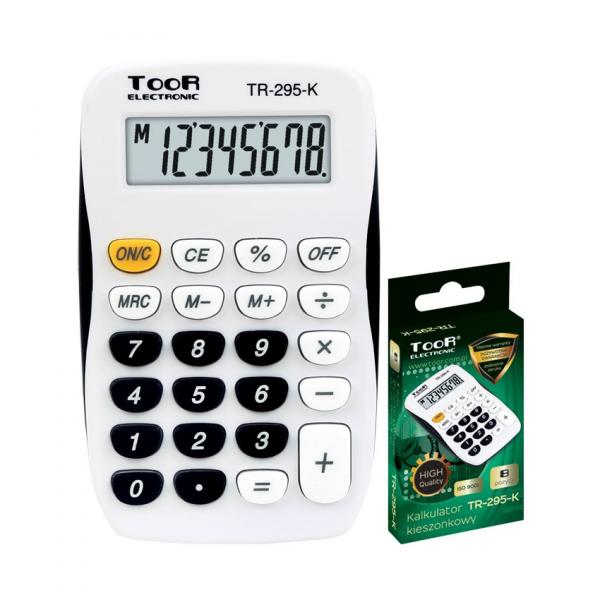 Kalkulator BIUROWY SZKOLNY czarny TOOR (120-1769)