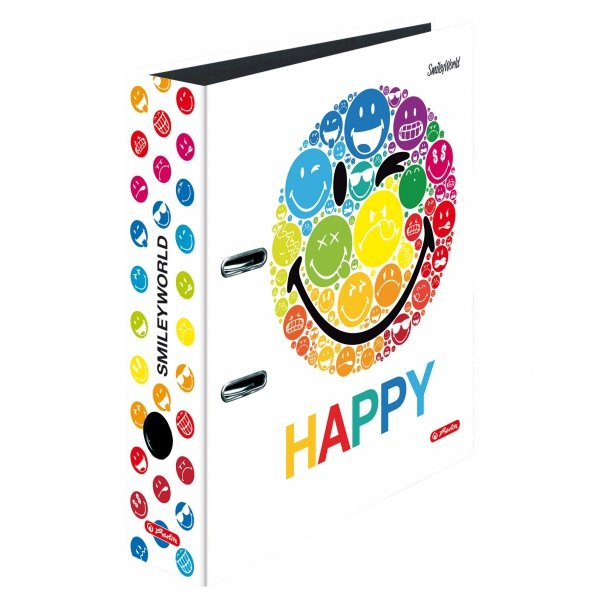 Segregator maX.file A4 Smiley World RAINBOW 8 cm, HERLITZ (37122)
