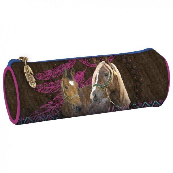 ZESTAW 4 el. Tornister szkolny ergonomiczny I LOVE HORSES Konie (TEMBKO16SET4CZ)