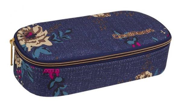 Piórnik CoolPack CAMPUS kwiaty na dżinsowym tle, BLUE DENIM FLOWERS (86339CP)
