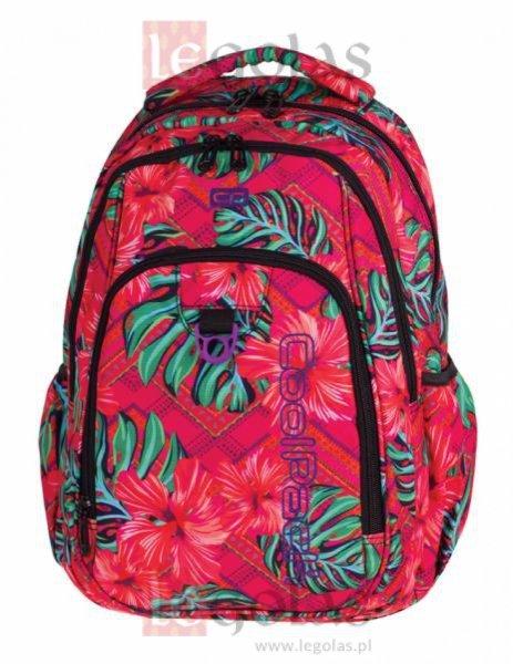 Plecak CoolPack STRIKE w egzotyczne kwiaty, CARIBBEAN BEACH 744 (73202)