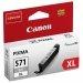 Oryginalny, kompatybilny Tusz Canon  CLI-571GY XL  do Pixma MG-5750/6850/7750 | 11ml | gray