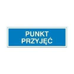 Znak PUNKT PRZYJĘĆ 801-80 P.Z.