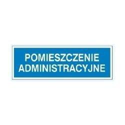 Znak POMIESZCZENIE ADMINISTRACYJNE 801-87 F.Z.