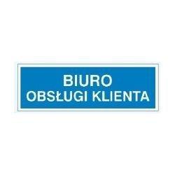 Znak BIURO OBSŁUGI KLIENTA 801-82 P.Z.