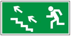 Kierunek do wyjścia drogi ewakuacyjnej schodami w górę na lewo 107 (FF)