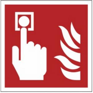 Znak alarm pożarowy F05 (FZ) 150x150