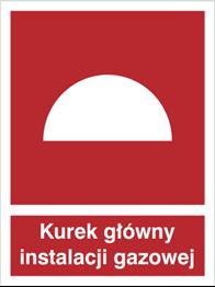 Znak Kurek główny instalacji gazowej P.F. 150X200 M