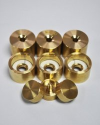 KGU HEAVY zestaw nakrętek i kapsli do trąbki Bach/B&S Trumpet Trim Kit - Raw Brass