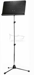 K&M 11842 (118/4) pulpit do nut, wysoki, blat czarny, podstawa niklowana
