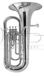 BESSON tuba Eb Sovereign 980-2-0 posrebrzana, 4 wentyle tłokowe (3+1), kompensacyjna, z futerałem