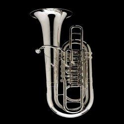 WESSEX tuba F TF436S Linz posrebrzana, 6 wentyli obrotowych, z futerałem