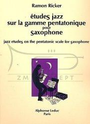 Ricker, Ramon: Etudes jazz sur la gamme pentatonique na saksofon