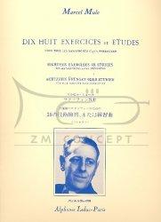 Mule, Marcel 18 exercices ou études pour tous les saxophones d'après Berbiguier