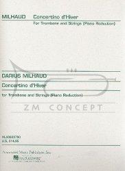 Milhaud, Darius Concertino d'Hiver w oryginale na puzon i smyczki (wyciąg fortepianowy)