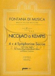 Kempis, Nicolaus a: 4 et 4 Symphoniae Sacrae: na skrzypce (blokflute sopranowy/obój) i bc