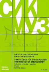 Schostakowitsch, Dimitri: Preludium i Scherzo op. 11: na oktet smyczkowy, partytura