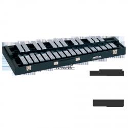 STUDIO49 DZWONKI przenośne, model RGST/K/V/AL, płytki brzmieniowe aluminiowe w kolorze srebrnym, z futerałem