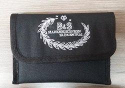 B&S pokrowiec na 4 ustniki do trąbki czarny z logo